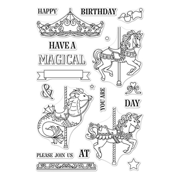 Hero Arts Clear Stamps ORNATE CAROUSEL CM296