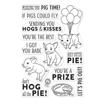 Hero Arts Clear Stamps COUNTY FAIR PIG CM294