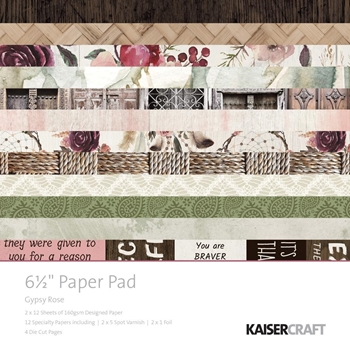 Kaisercraft GYPSY ROSE 6.5 x 6.5 Inch Paper Pad PP1048