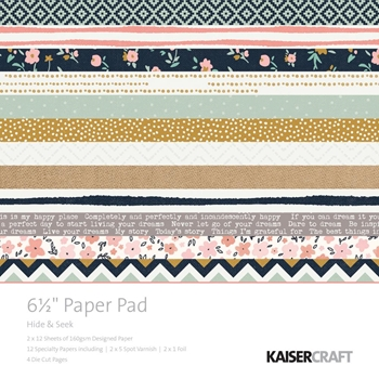 Kaisercraft HIDE AND SEEK 6.5 x 6.5 Inch Paper Pad PP1047