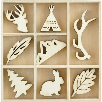 Kaisercraft WOODLANDS Wooden Flourish Pack FL628