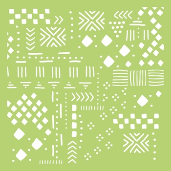 Kaisercraft TRIBAL COLLAGE 6x6 Inch Designer Stencil Template IT471