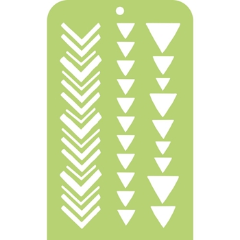 Kaisercraft TRIBAL STRIPS Mini Designer Template Stencil IT035