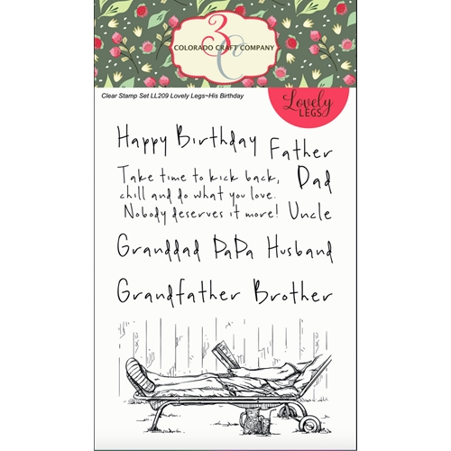 Colorado Craft Company HIS BIRTHDAY Clear Stamps LL209 Preview Image