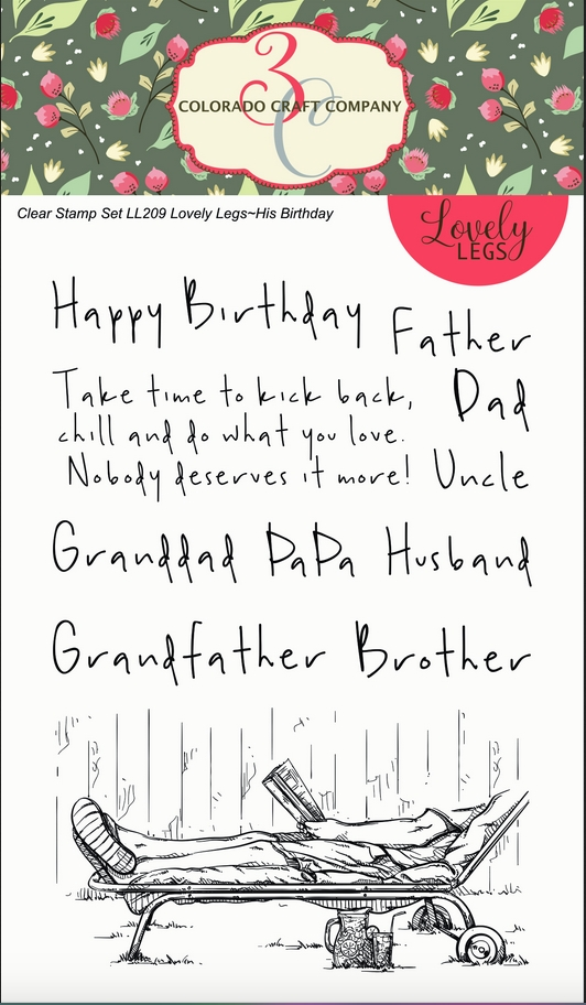 Colorado Craft Company HIS BIRTHDAY Clear Stamps LL209 zoom image
