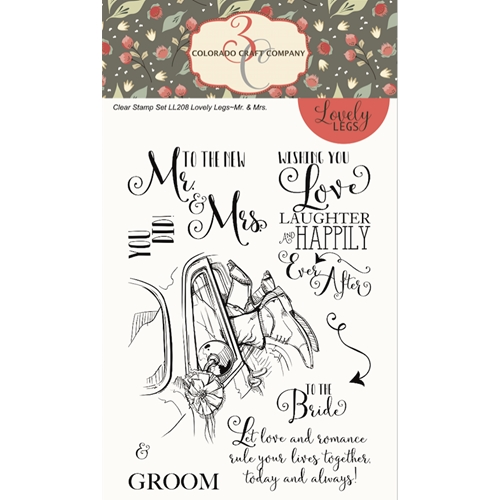 Colorado Craft Company Lovely Legs MR. AND Mrs. Clear Stamps LL208 Preview Image