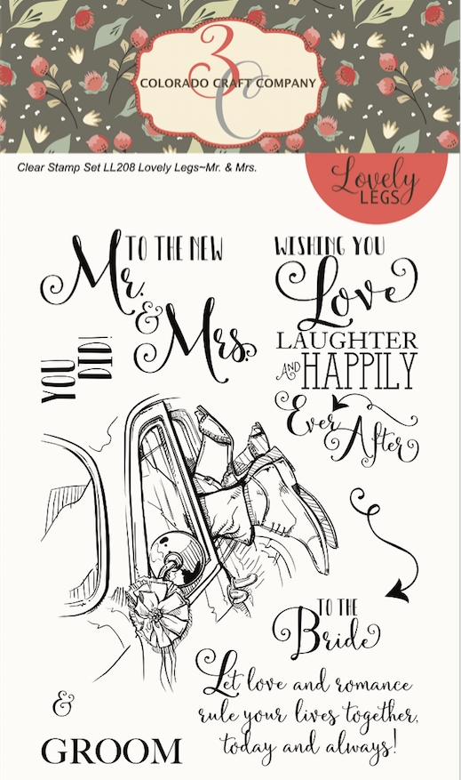 Colorado Craft Company Lovely Legs MR. AND Mrs. Clear Stamps LL208 zoom image