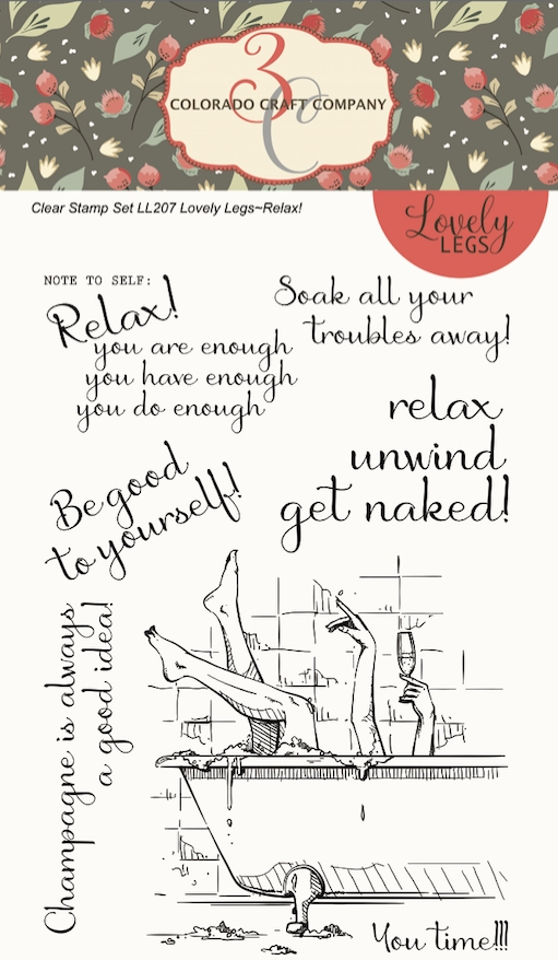 Colorado Craft Company Lovely Legs RELAX Clear Stamps LL207 zoom image