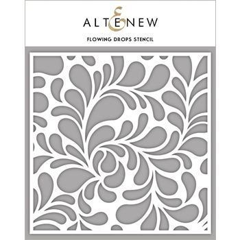Altenew FLOWING DROPS Stencil ALT2389
