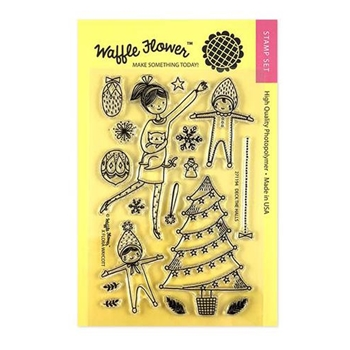 Waffle Flower DECK THE HALLS Clear Stamps 271194