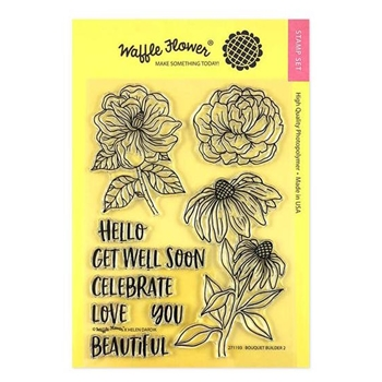Waffle Flower BOUQUET BUILDER 2 Clear Stamps 271193