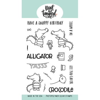 Neat and Tangled LATER ALLIGATOR Clear Stamps NAT402