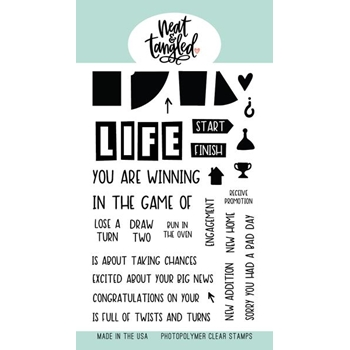 Neat and Tangled LIFE'S A GAME Clear Stamps NAT396
