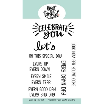 Neat and Tangled CELEBRATE YOU Clear Stamps NAT400