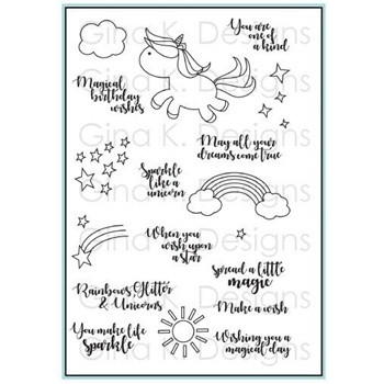 Gina K Designs UNICORN WISHES Clear Stamps 3542