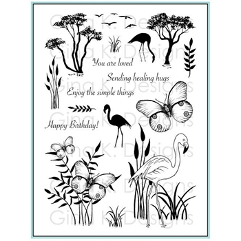 Gina K Designs TROPICAL TIDINGS Clear Stamps 3559