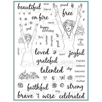 Gina K Designs THIS GIRL IS Clear Stamps 3556