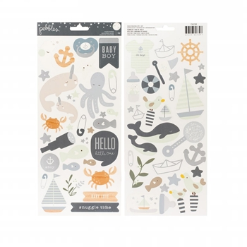 Pebbles Inc. BABY BOY Cardstock Stickers Night Night 732739