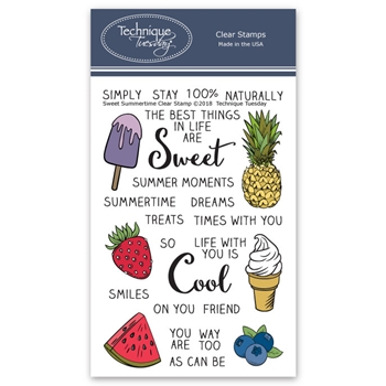 Technique Tuesday SWEET SUMMERTIME Clear Stamps 02681