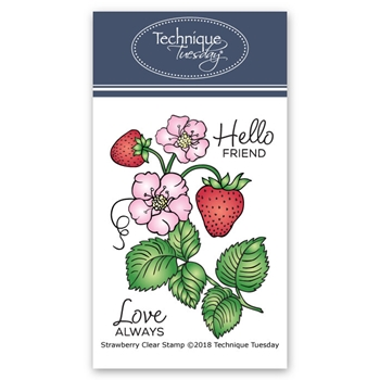 Technique Tuesday STRAWBERRY Clear Stamps 02675