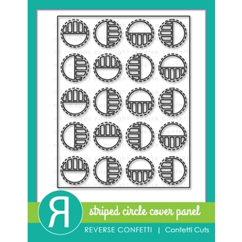 Reverse Confetti Cuts STRIPED CIRCLE Cover Panel Die