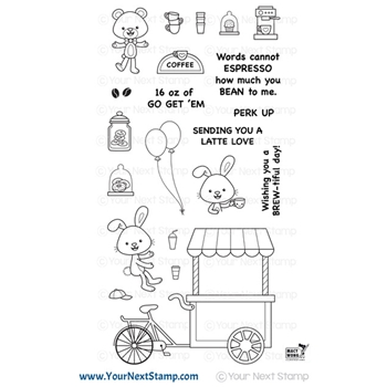 Your Next Stamp COFFEE CART Clear cyns651