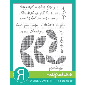Reverse Confetti MOD FLORAL STACK Clear Stamps