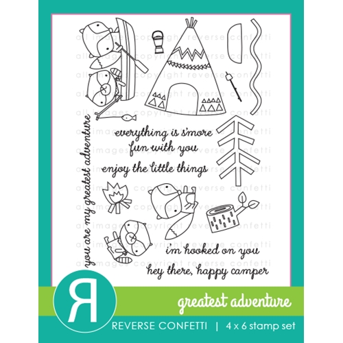 Reverse Confetti GREATEST ADVENTURE Clear Stamps Preview Image
