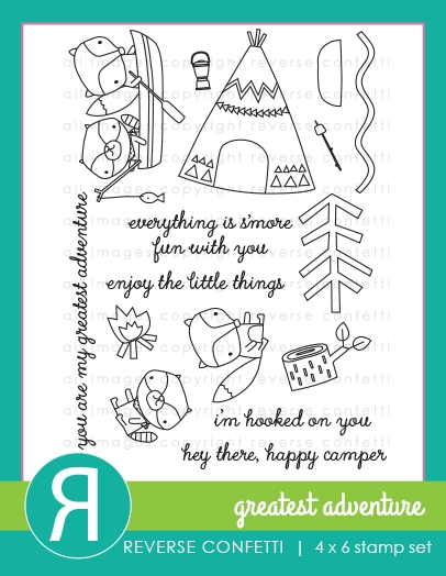 Reverse Confetti GREATEST ADVENTURE Clear Stamps zoom image
