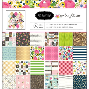 Pebbles Inc. MY BRIGHT LIFE 12x12 Inch Paper Pad 733893