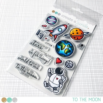 Create A Smile TO THE MOON Clear Stamps clcs83