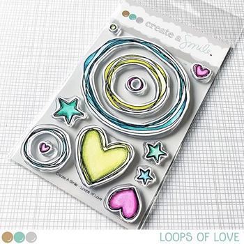 Create A Smile LOOPS OF LOVE Clear Stamps clcs84