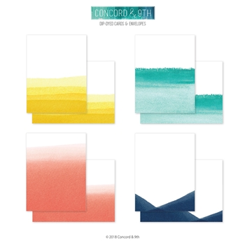 Concord & 9th DIP-DYED CARDS AND ENVELOPES 10434