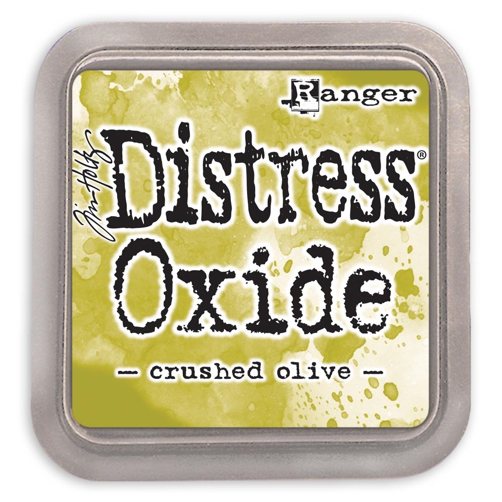 Tim Holtz Distress Oxide Ink Pad CRUSHED OLIVE Ranger tdo55907 zoom image