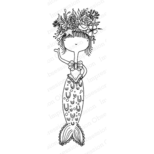 Impression Obsession Cling Stamp MERMAID JB E19800 Preview Image Shadow