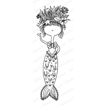 Impression Obsession Cling Stamp MERMAID JB E19800