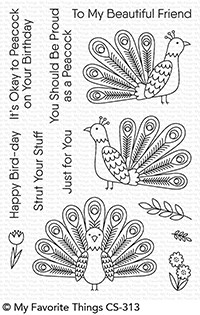 My Favorite Things PLAYFUL PEACOCK Clear Stamps CS313