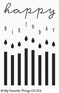 My Favorite Things HAPPY BIRTHDAY CANDLES Clear Stamps CS316