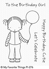Pure Innocence BIRTHDAY CUTIE Clear Stamps MFT PI273