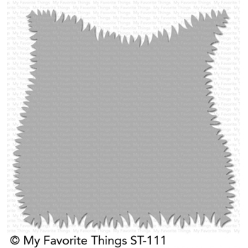 My Favorite Things GRASSY EDGES Mixables Stencil Template ST111