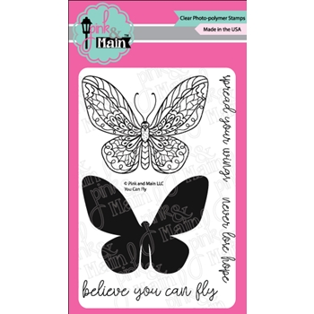 Pink and Main YOU CAN FLY Clear Stamps PM0294