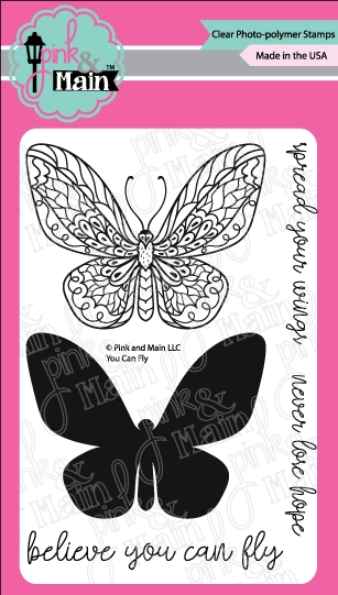 Pink and Main YOU CAN FLY Clear Stamps PM0294* zoom image
