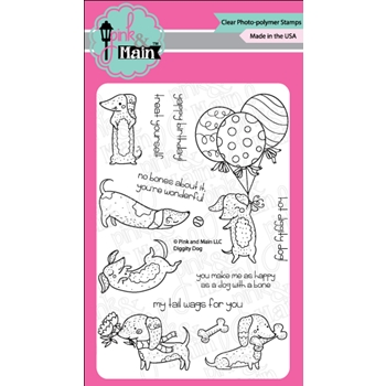 Pink and Main DIGGITY DOG Clear Stamps PM0291