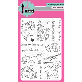Pink and Main CATITUDE Clear Stamps PM0290