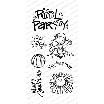Impression Obsession Clear Stamps POOL PARTY WP867