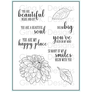 Gina K Designs GRAND GARDEN Clear Stamps 3511