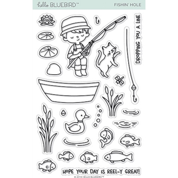 Hello Bluebird FISHIN' HOLE Clear Stamps hb2117