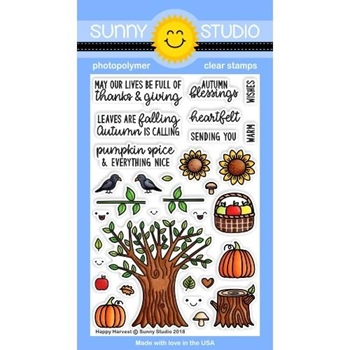 Sunny Studio HAPPY HARVEST Clear Stamps SSCL-201