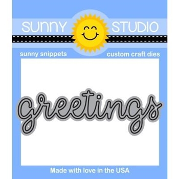 Sunny Studio GREETINGS Snippets Die SunnySS-809