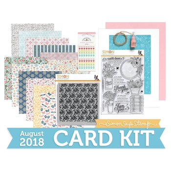 Simon Says Stamp Card Kit of The Month AUGUST 2018 MANDY'S FLOWERS ck0818